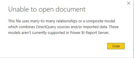 PowerBI error open pbix